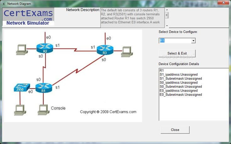 Ccna network simulator with designer
