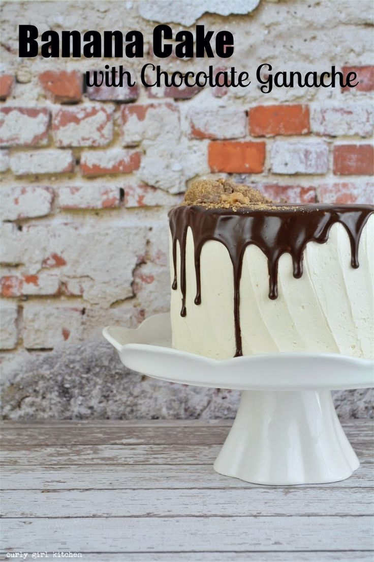 Banana Cake with Chocolate Ganache