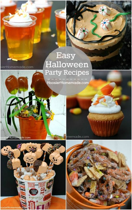 Easy Halloween Party Recipes | Quick, easy and perfect for your home party or school party | Recipes on HoosierHomemade.com