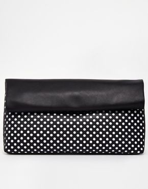New Look Lasercut Paper Clutch Bag