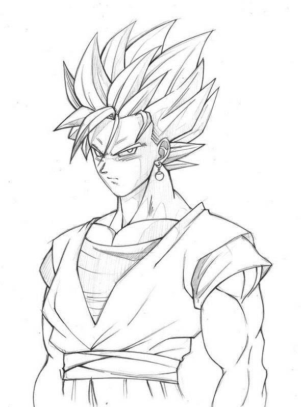 De Goku Para Dibujar A Lapiz Imagui Dibujo De Goku Goku Dibujos