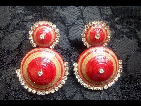 Paper Quilling Earrings Trendy Design Tutorial - YouTube