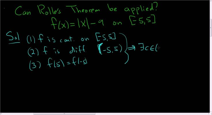 Can Rolle's Theorem be Applied to f(x) =  x  - 9 on [-5,5]?