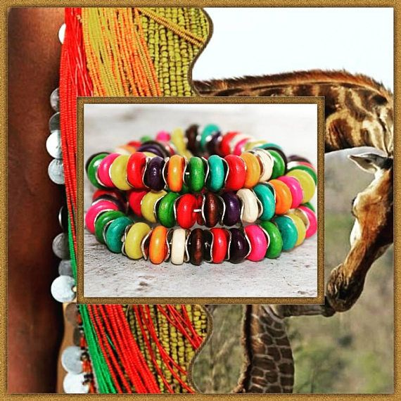 Rainbow Bracelet African Bracelets for Women Beaded