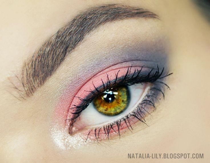 natalia-lily: Beauty Blog: Makijaż: Róż i szarość kosmetykami Pierre Rene I Miyo (krok po kroku)