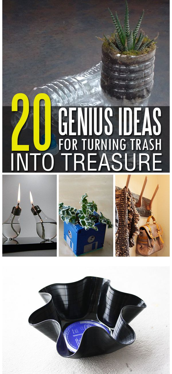 Turn old stuff into something new and useful for your home.