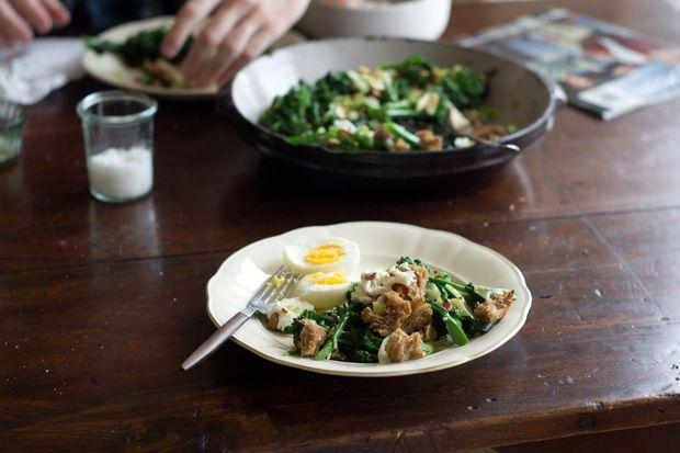 Broccolini Salad recipe @ 101cookbooks  Looks so good. Going to make it next week.