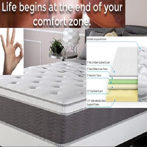 Mattress Double Deluxe Ultra Plush Memory 10 Year Warranty 8 Orthopedic Queen A Zinus Mattress Zinus Memory Foam Mattress