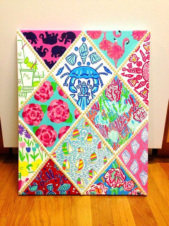 Lilly Pulitzer Inspired 12 Print Canvas by TaylorStorrer on Etsy