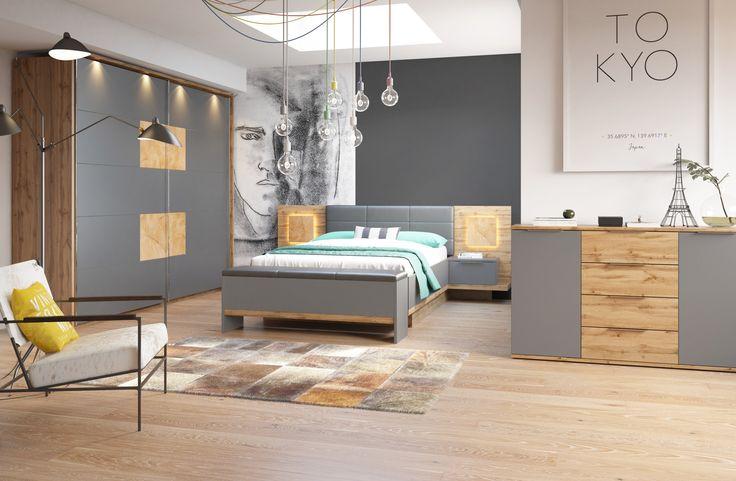 Sypialnia stworzona w oparciu o meble z kolekcji Livorno to miejsce, w którym każda spędzona chwila będzie okazją do błogiego odpoczynku #sypialnia #bedroom #meble #inspiracja #odpoczynek #relaks #relax #furniture
