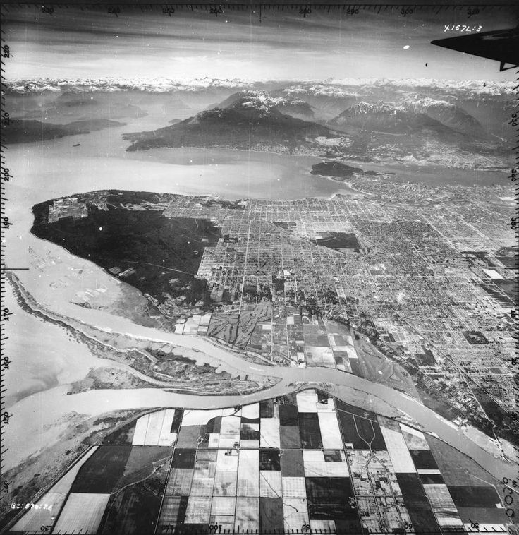 Old Aerial Photo of Vancouver AV-18