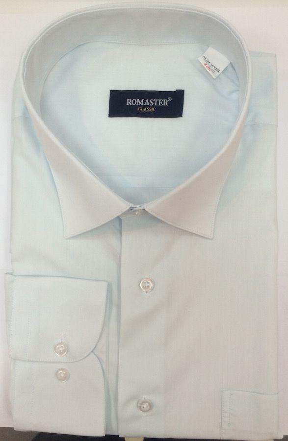Однотонная рубашка мятного цвета