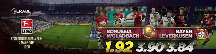 M'Gladbach - Leverkusen  Bugün Saat : 16:30  www.perabet11.com/live/