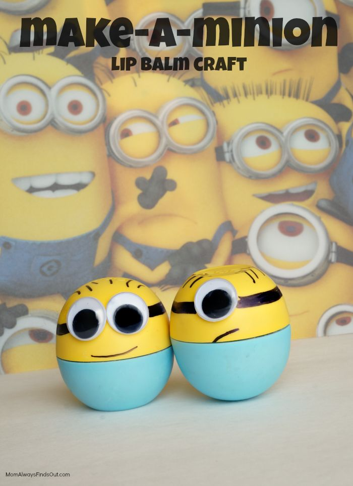Minion Craft: Make-a-Minion Lip Balm | DIY Minions Party Ideas Favors Crafts Despicable Me Minions