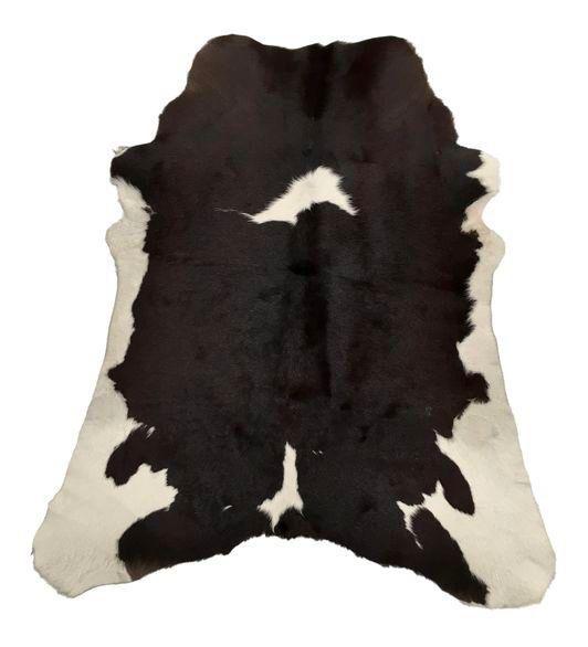 "Brown & White Brazilian Calf Hide Rug - 3' X 3'5"" on Chairish.com"