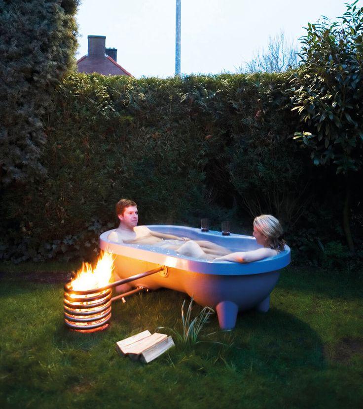 Dutchtub Loveseat: tweepersoons buitenbad • Weltevree