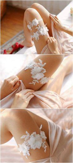 Bridal lace garter set - wedding ideas / http://www.deerpearlflowers.com/wedding-garters-sets-from-etsy/