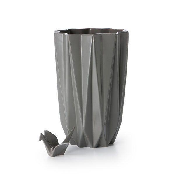 Vase ›Origami‹ – anthrazit - S.W.W.S.W.