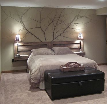Love, love, love this headboard!! Can even make drawers on each side