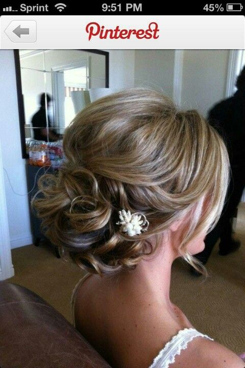 Cute wedding updo! i think this is the one
