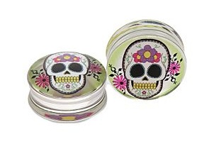 Color Skull - Par de alargadores HOTTOPIC