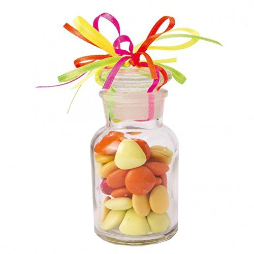 lot de 3 boite drages mini bonbonniere verre forme bouteille pharma avec bouchon en verre - Bonbonnire Mariage En Verre