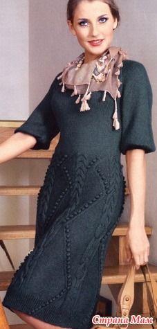Вязаные платья, подборочка - Вязание - Страна Мам