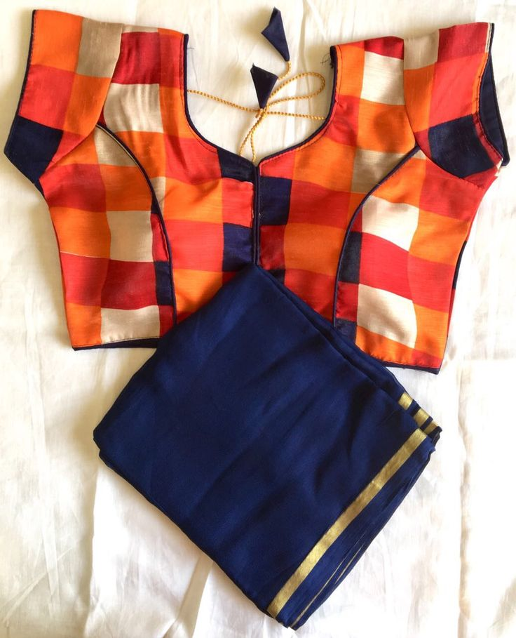 Simple plain sarees do look beautiful, but patterned blouse adds joy to the attire