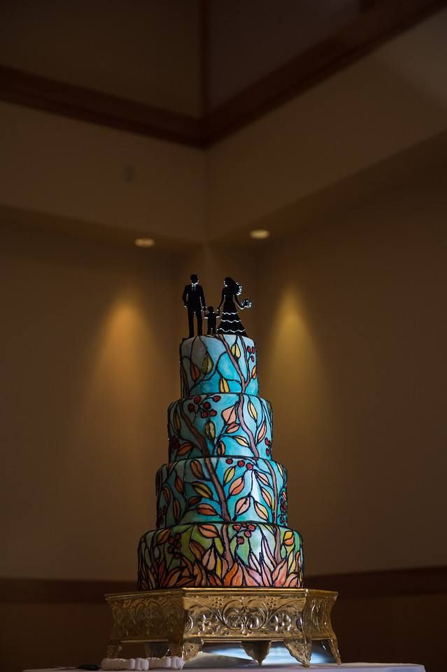 Stained Glass Wedding Cake Wedding Cakes Decor Glass