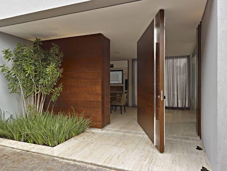 Las 25 mejores ideas sobre puerta moderna en pinterest - Paredes de vidrio exterior ...