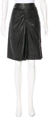 Altuzarra Leather A-Line Skirt w/ Tags