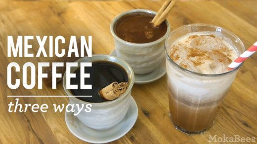 Learn how to make Mexican coffee (Café de Olla) 3 ways: traditional, chocolate-flavored, and iced. Video and printable Cafe de Olla recipe by MokaBees.