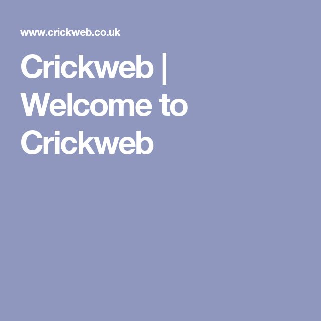 Crickweb | Welcome to Crickweb