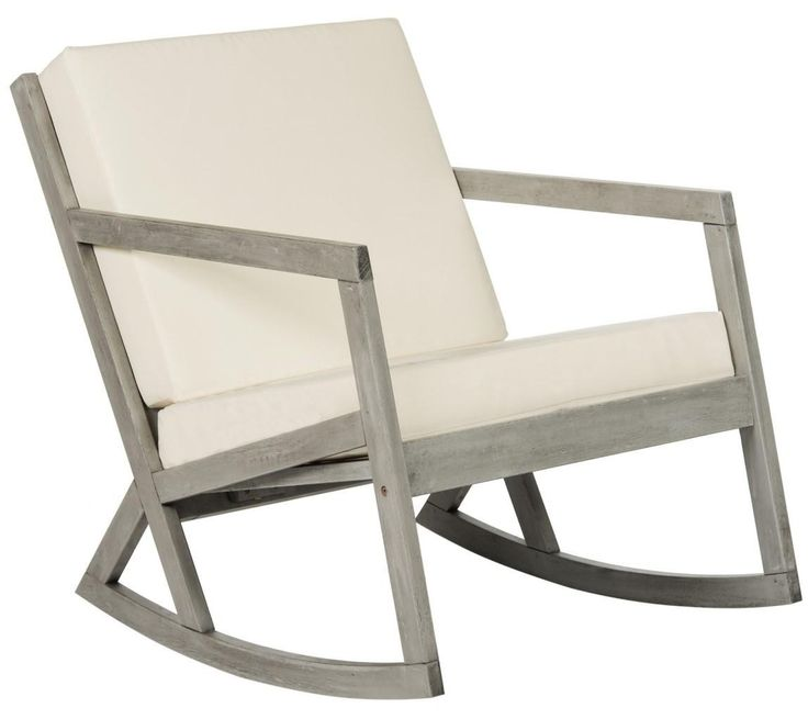 Wonderful Grey And Beige Contemporary Outdoor Rocking Chair   CURRENTLY ON BACKORDER