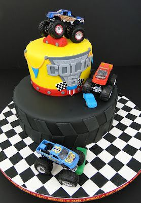 Monster Jam cake! Perfect for Aiden's 5th Birthday!!!