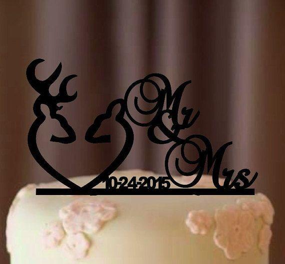 Deer Wedding Cake Topper  Country Wedding Cake by EDESIGNLASER