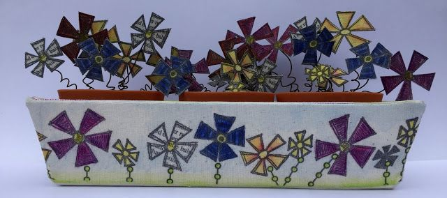 PaperArtsy: 2016 #12 Hayfever Free Pots {by Gabrielle Price}