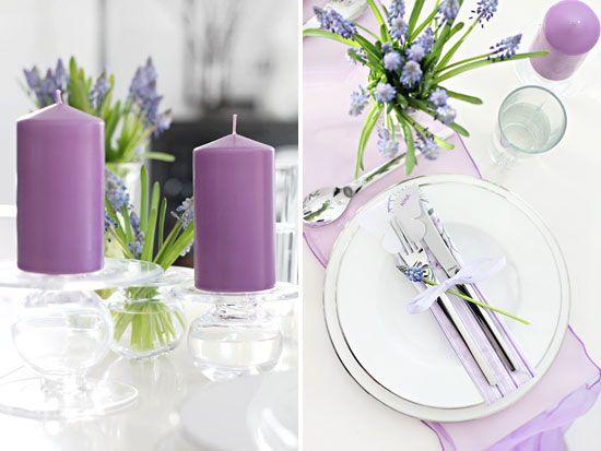 konfirmasjon bordpynt rosa og lilla - Google-søk