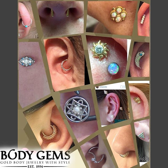 Boom!! Another amazing collaboration of #piercings and #jewelryupgrades in this weeks #bodygemsshowcase #bodygems #goldbodyjewelry #safepiercing #legitbodyjewelry #legitpiercingslook #legitpiercings #bodypiercing #bodyjewelry #nosering #daithmoon #daith #septum #septumclicker #septumpiercing #helix #flatpiercing Follow the tagged #piercers to see more of our #jewelry in action! Have a great holiday season everyone!!!