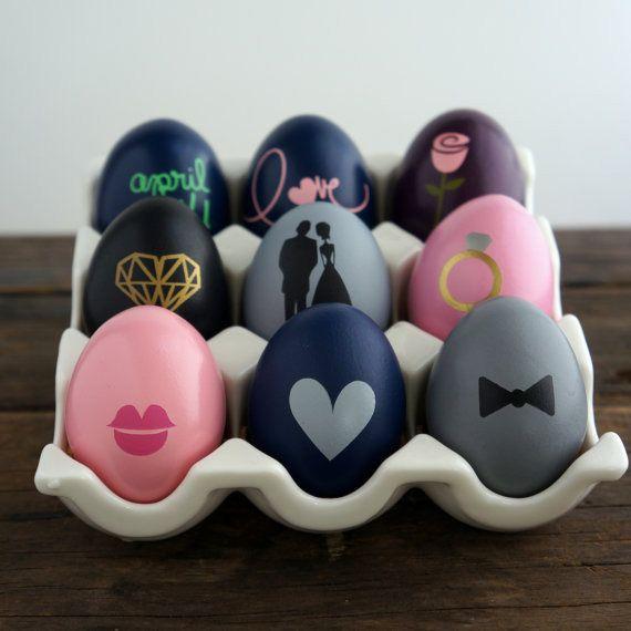 Huevos con mensaje escondido