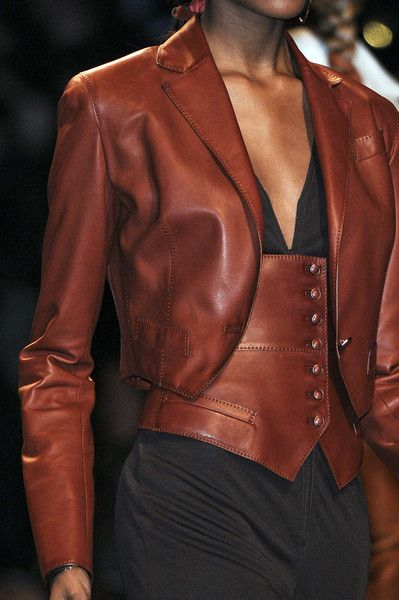 Hermes: Leather Fashion, Hermes Leather, Fashion Style, Clothes, Brown Leather, Clothing, Leather Corset, Leather Jackets