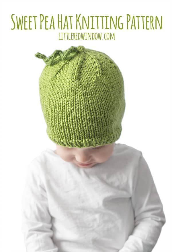 Knit up this easy and adorable sweet pea hat for your sweet newborn, baby or toddler!