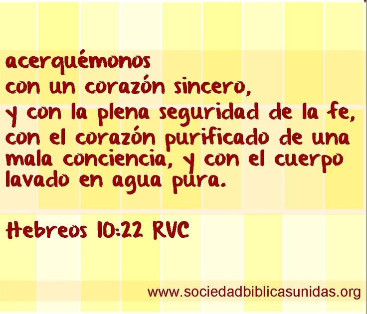 Hebreos 10:22 RVC