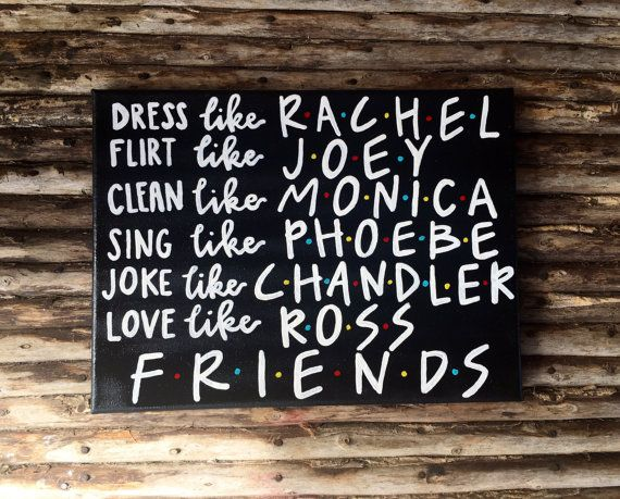 Friends TV show canvas art by SimpleSouthernCrafts on Etsy