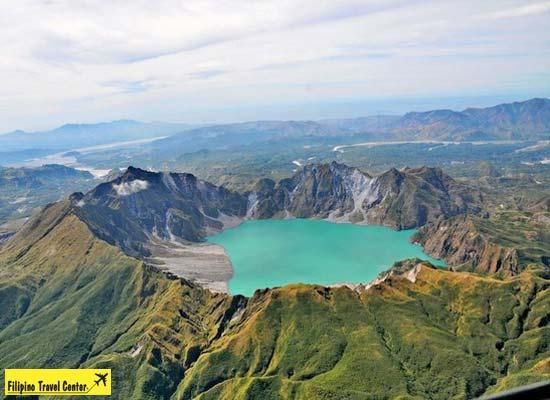 Mount Pinatubo is an active stratovolcano located on the island of Luzon, at the intersection of the borders of the Philippine provinces of Zambales, Tarlac, and Pampanga. Description from wikimapia.org. I searched for this on bing.com/images