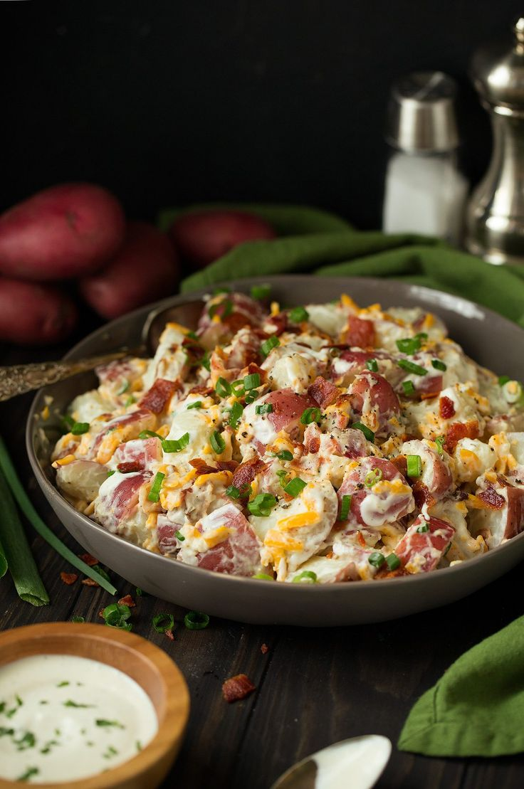 5 ingredient potato salad that's packed with flavor and so easy to make! Perfect spring and summer side dish. Love this combination!