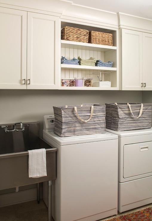 Fantastic Mudroom Features A Stainless Steel Freestanding Sink Placed Next  To A White Washer And Dryer Part 40