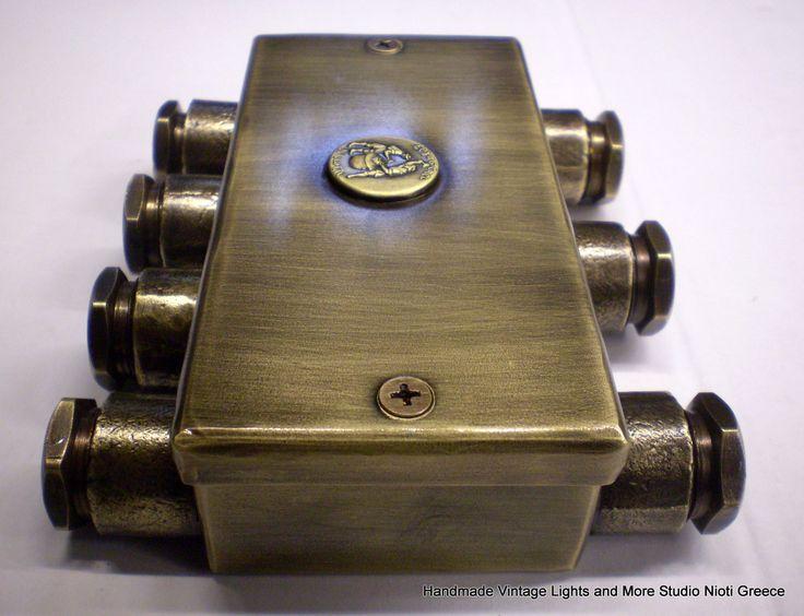 STUDIONIOTI Handmade brass external electrical installation boxes