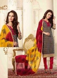 All New Pattern Unstitched Straight Suit With Embroidery Work