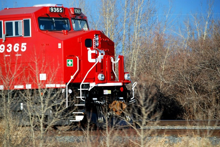 Canadian Pacific Railroad engine.  By me.